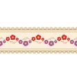 Flower ribbon vector image