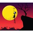 halloween hanging vector image