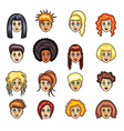 girl hairstyles set vector image vector image