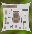 Traveler Kit vector image