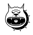 angry dog vector image vector image