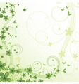 abstract floral background with flower and butterf vector image vector image