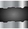 Metal perforated texture tech background vector image vector image