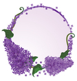 frame with flowers of the lilac vector image vector image