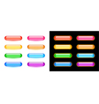Glassy buttons set vector image vector image