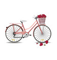 Bicycle with flowers isolated vector image
