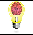 Bright Idea brain light bulb vector image
