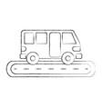bus street service public urban vehicle vector image