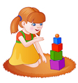 Cartoon playing girl vector image
