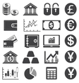 Finance icons vector image