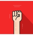 Fist hand up revolution logo idea freedom symbol vector image