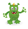 Funny cartoon monster vector image