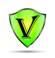 green shield icon vector image