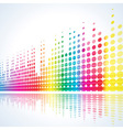 musical lights background vector image