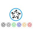 people unity rounded icon vector image