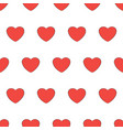 seamless pattern from heart red icon love sign vector image