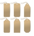 Set of six carton tags with rope vector image