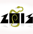 snake symbol of 2013 on the Chinese calendar vector image