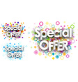 Special offer colour backgrounds vector image