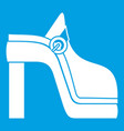 women shoe icon white vector image