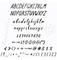 10 fonts vector image