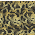 Abstract colorful Golden Stripes Seamless Pattern vector image
