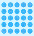 round blue web icons vector image vector image