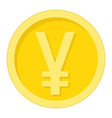 yen coin flat icon business and finance money vector image