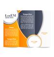 Tri-fold brochure template vector image vector image