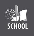 logo accessories for studies in school vector image