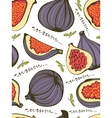 Colorful seamless pattern with figs vector image vector image