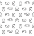 Mail seamless pattern vector image