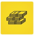 Cash icon Dollar money sign vector image