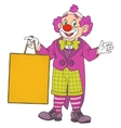 Clown with blank board vector image