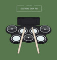 electronic drum pad kit sketch vector image