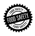 Food safety stamp vector image