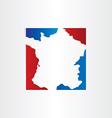 france map red blue design background vector image