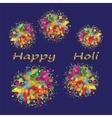 Happy Holi colourful background vector image