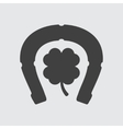 Horseshoe and clover icon vector image
