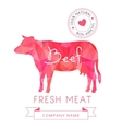 Image meat symbol beef silhouettes of animal for vector image