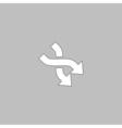 intersection arrow computer symbol vector image