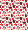 pattern festive pattern with gifts vector image