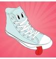 sneaker character cartoon design vector image