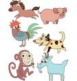 The twelve chinese zodiac cutie cartoon vector image