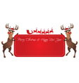 Rudolph Reindeer Christmas Banner vector image vector image