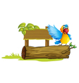 A colorful parrot vector image vector image