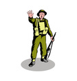 British soldier serviceman with rifle vector image vector image