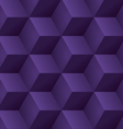 Abstract seamless background with 3d purple cubes vector image