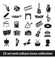 25 art and culture icon collection vector image