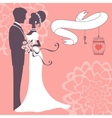 Elegant wedding couple vector image